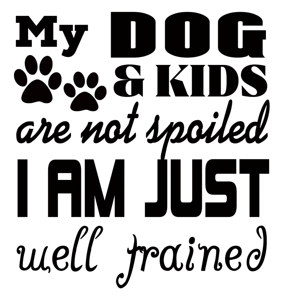 Free Dogs and Kids SVG Cutting File