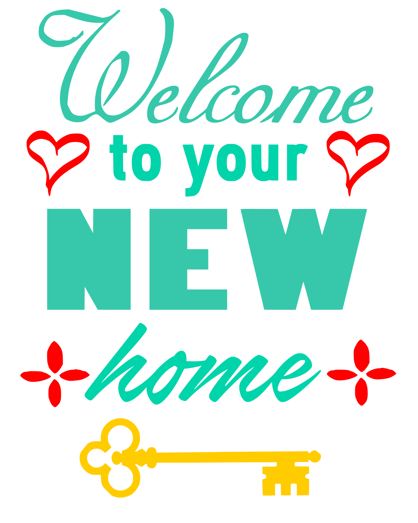Free Welcome to your New Home SVG File