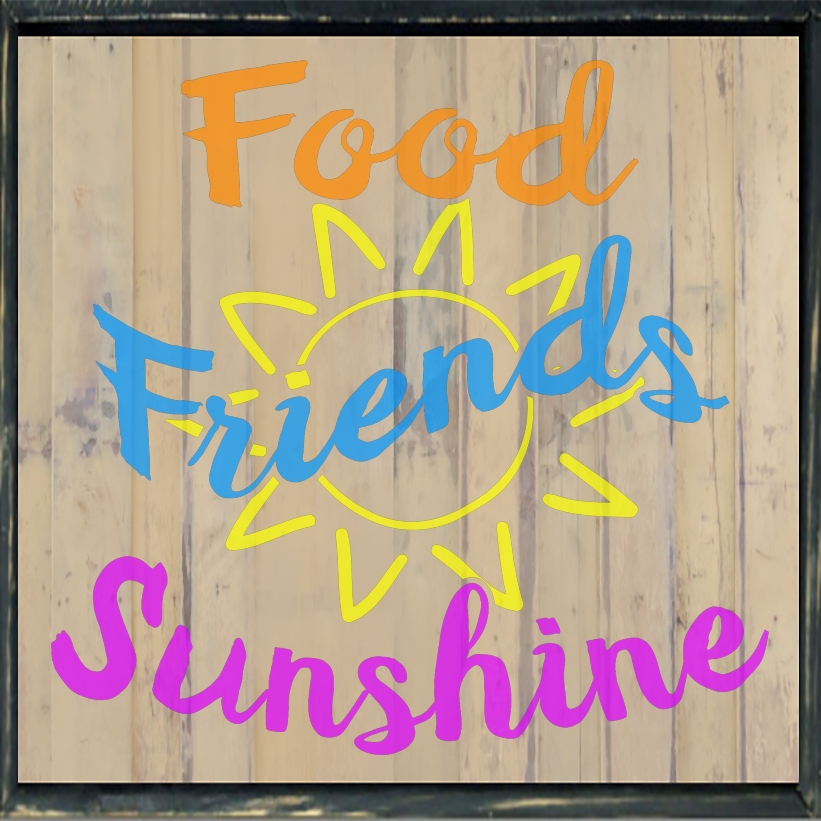 Free Foods Friends Sunshine SVG File