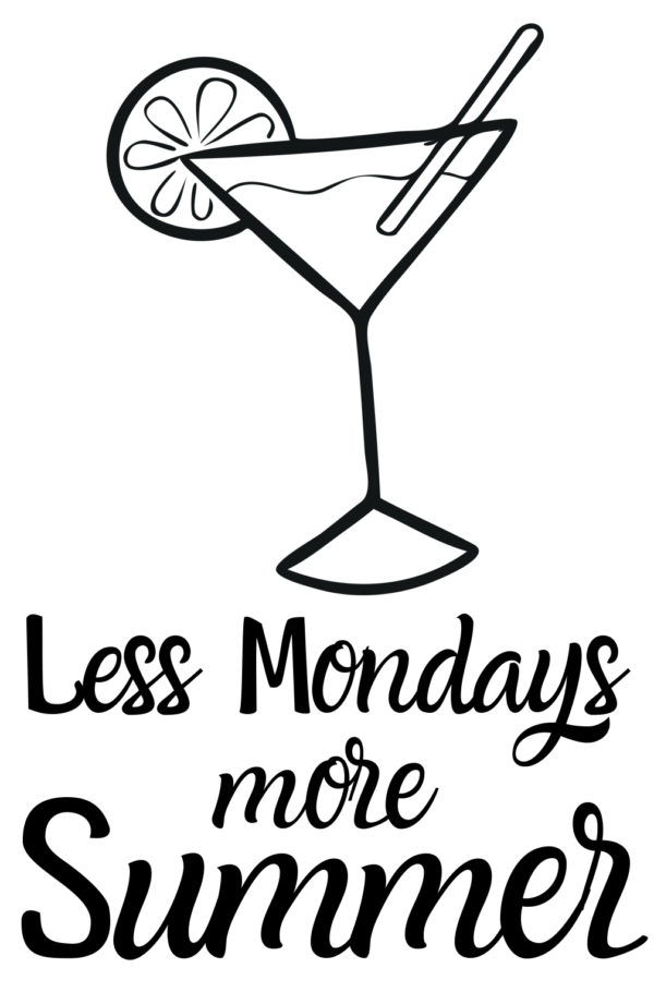 Free Less Mondays more Summer SVG File