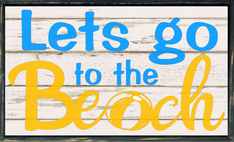 Free Lets go to the Beach SVG File