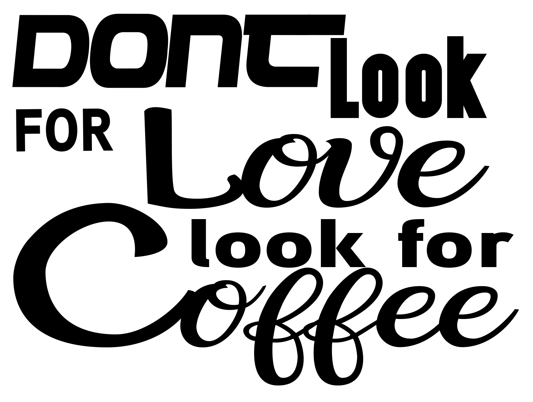 Free Look for Coffee SVG File