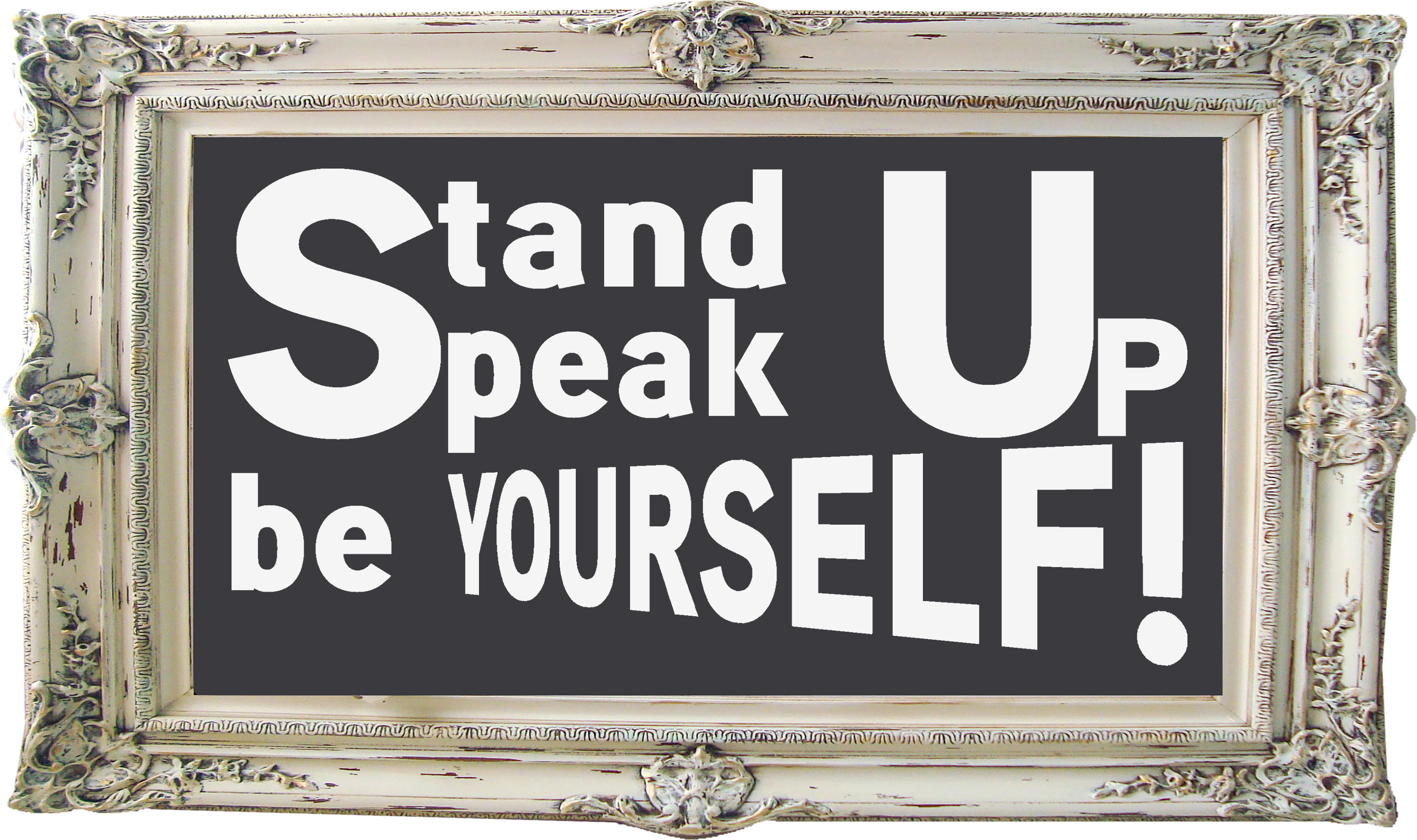 Free Stand Up Speak Up SVG Cutting File for the Cricut.