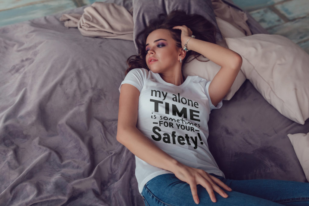 Free My Alone Time is Sometimes for your Safety SVG Cutting File