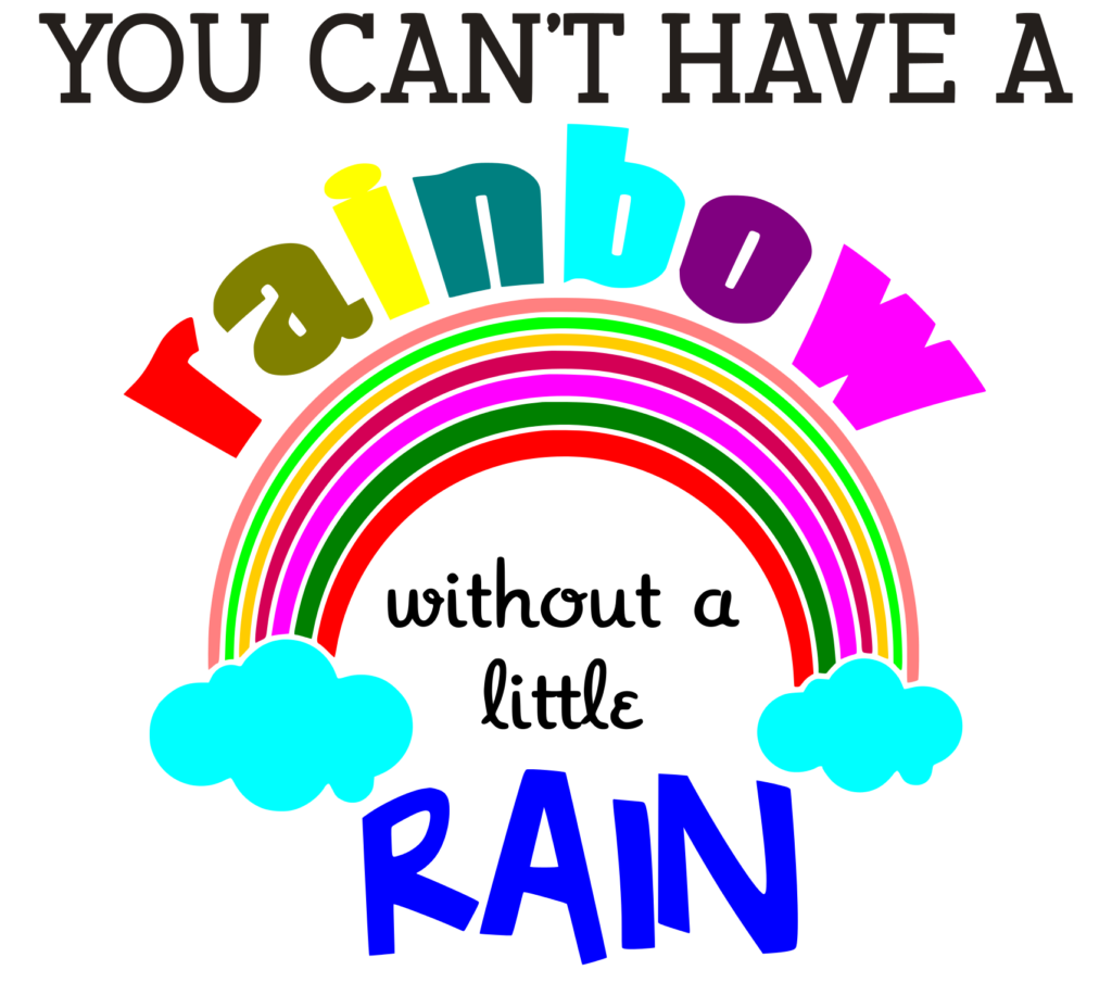 Free Rainbow without a little Rain SVG File