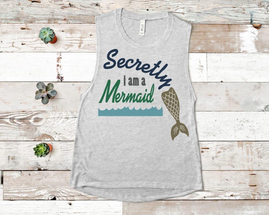 Free Secret Mermaid SVG File