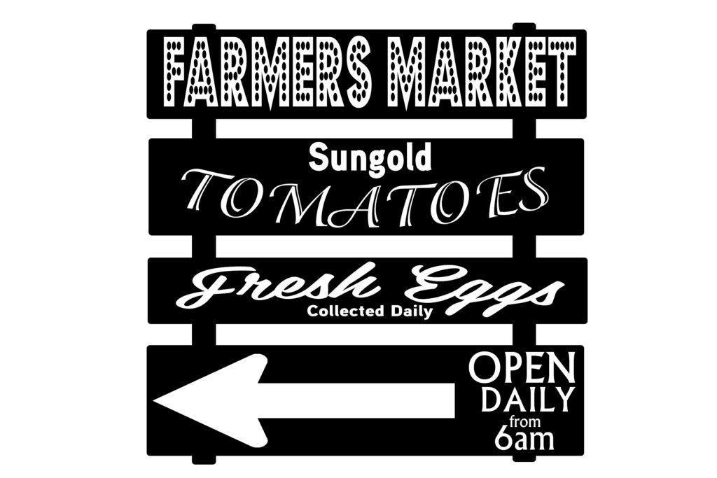 Free Farmers Market SVG File