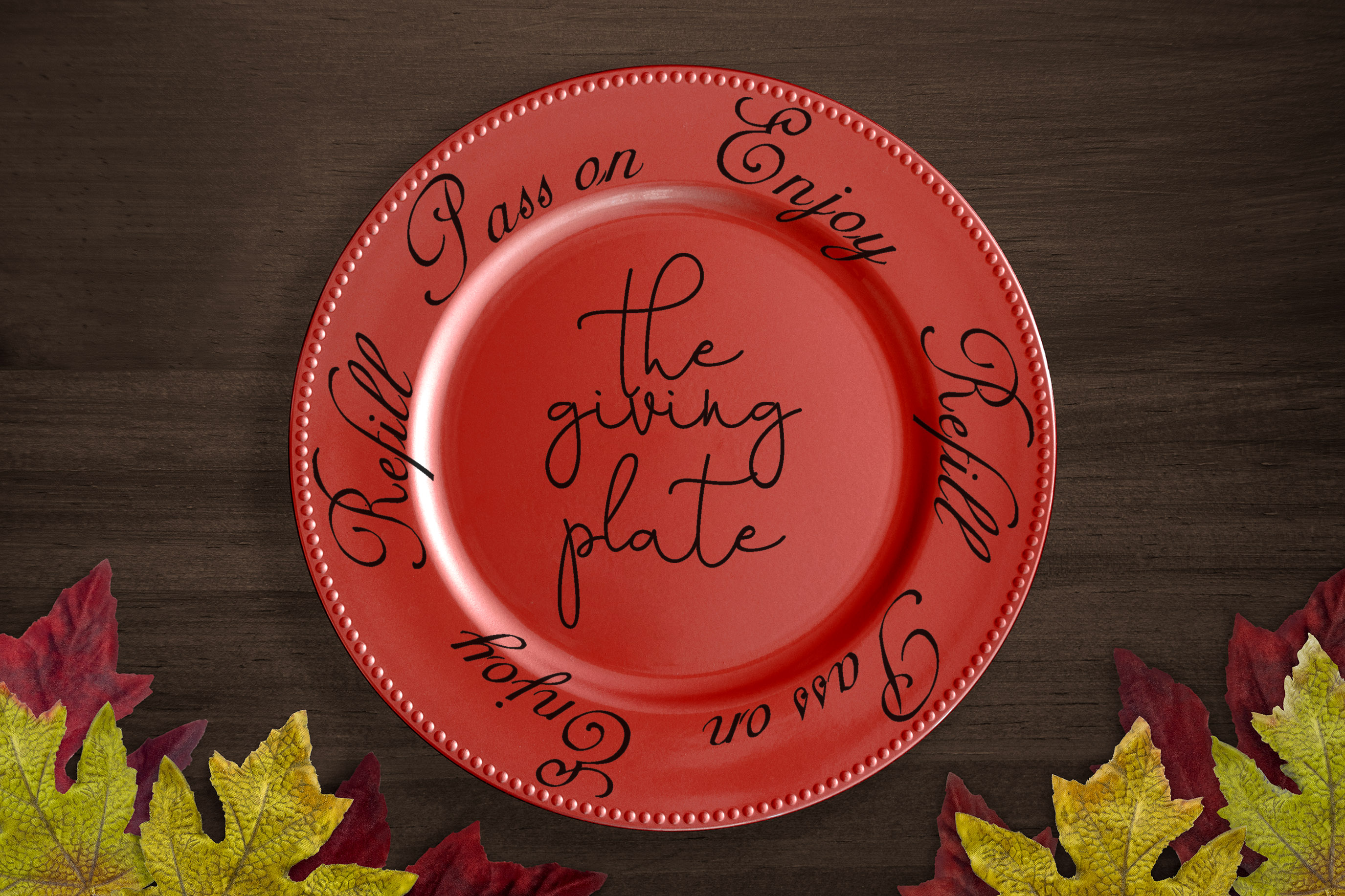 Free The Giving Plate SVG File