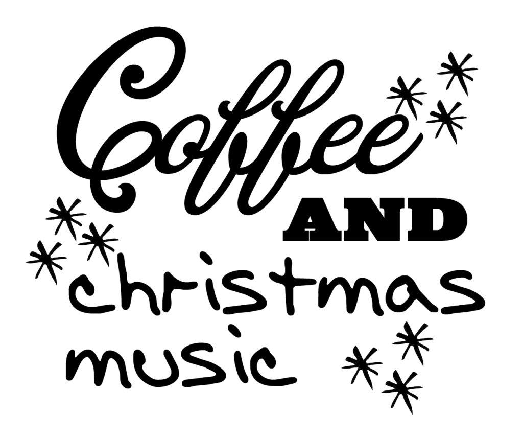 Free Christmas and Coffee SVG File