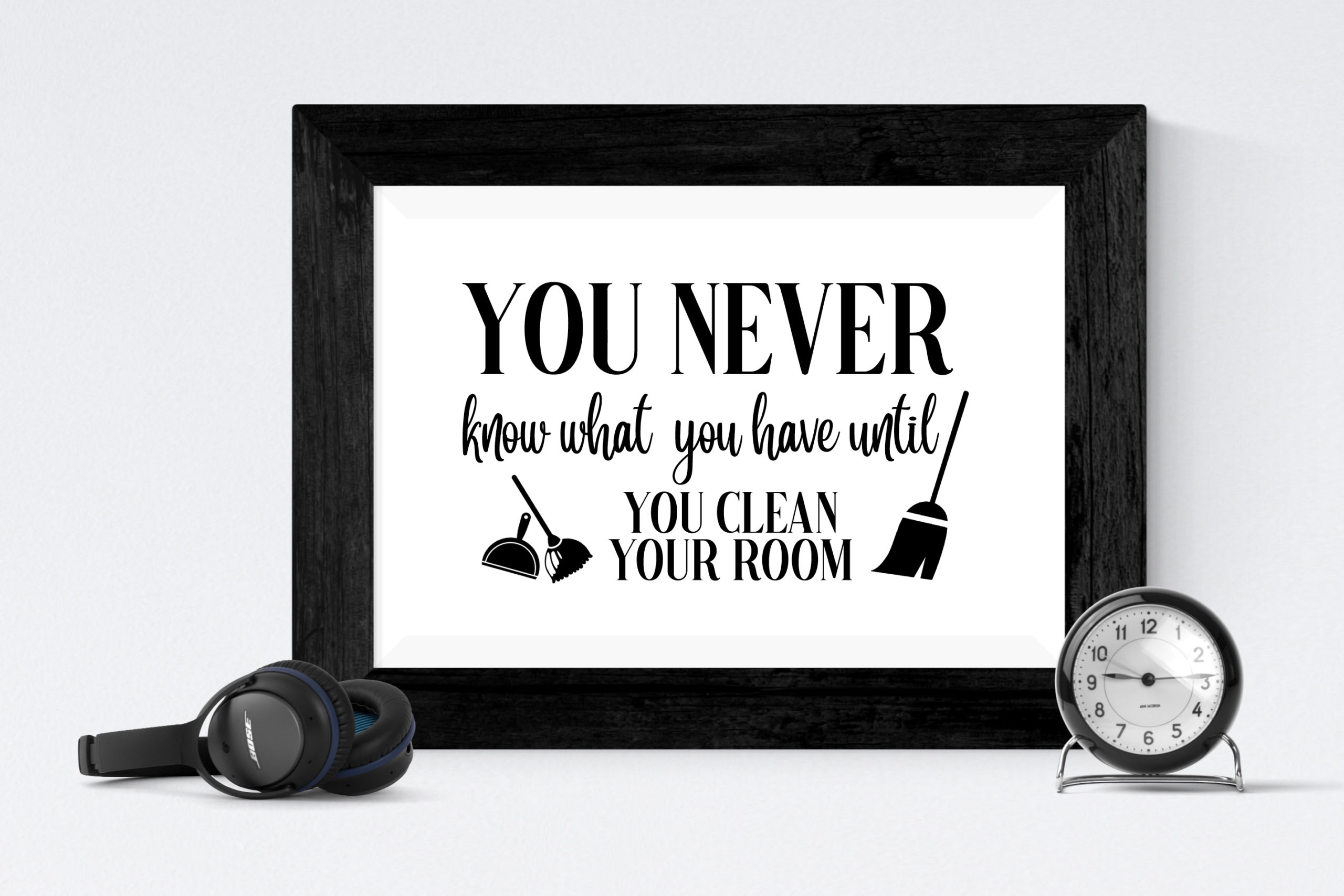 Free Clean Your Room SVG File