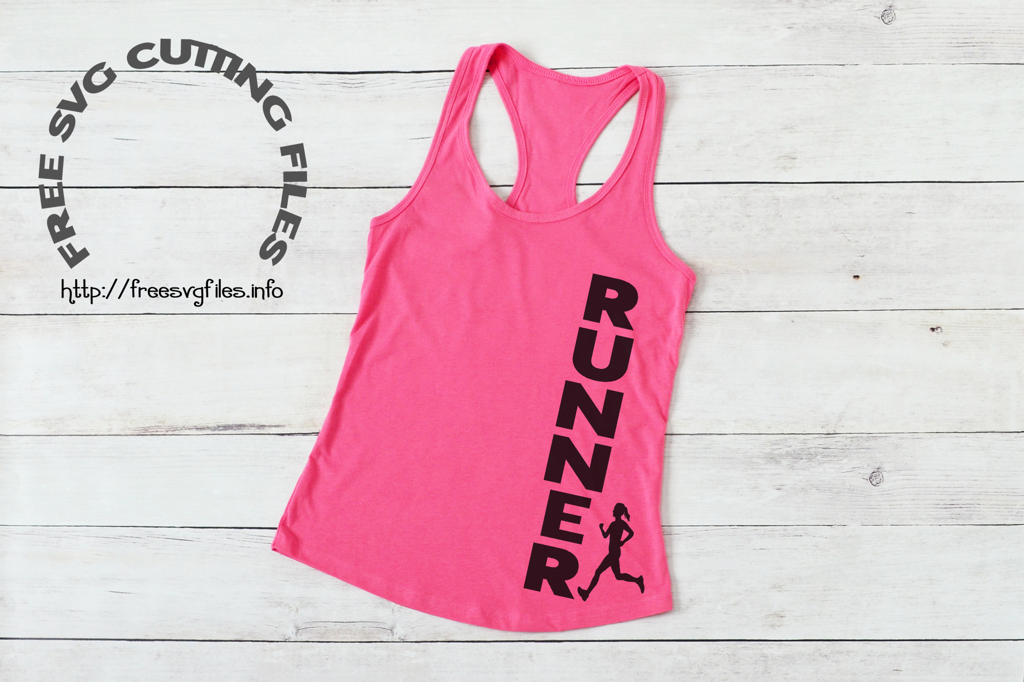 Free Female Runner SVG File