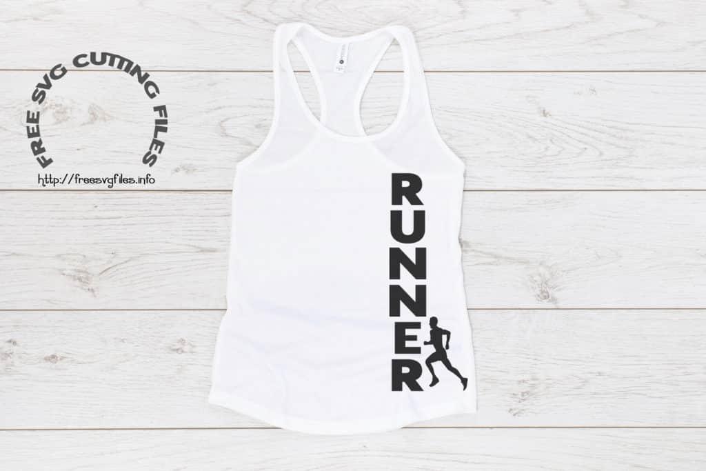 Free Male Runner SVG File
