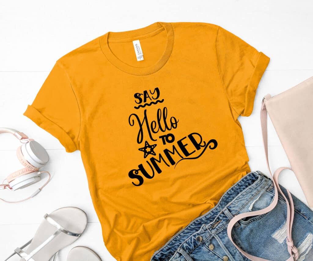 Free Hello Summer SVG File