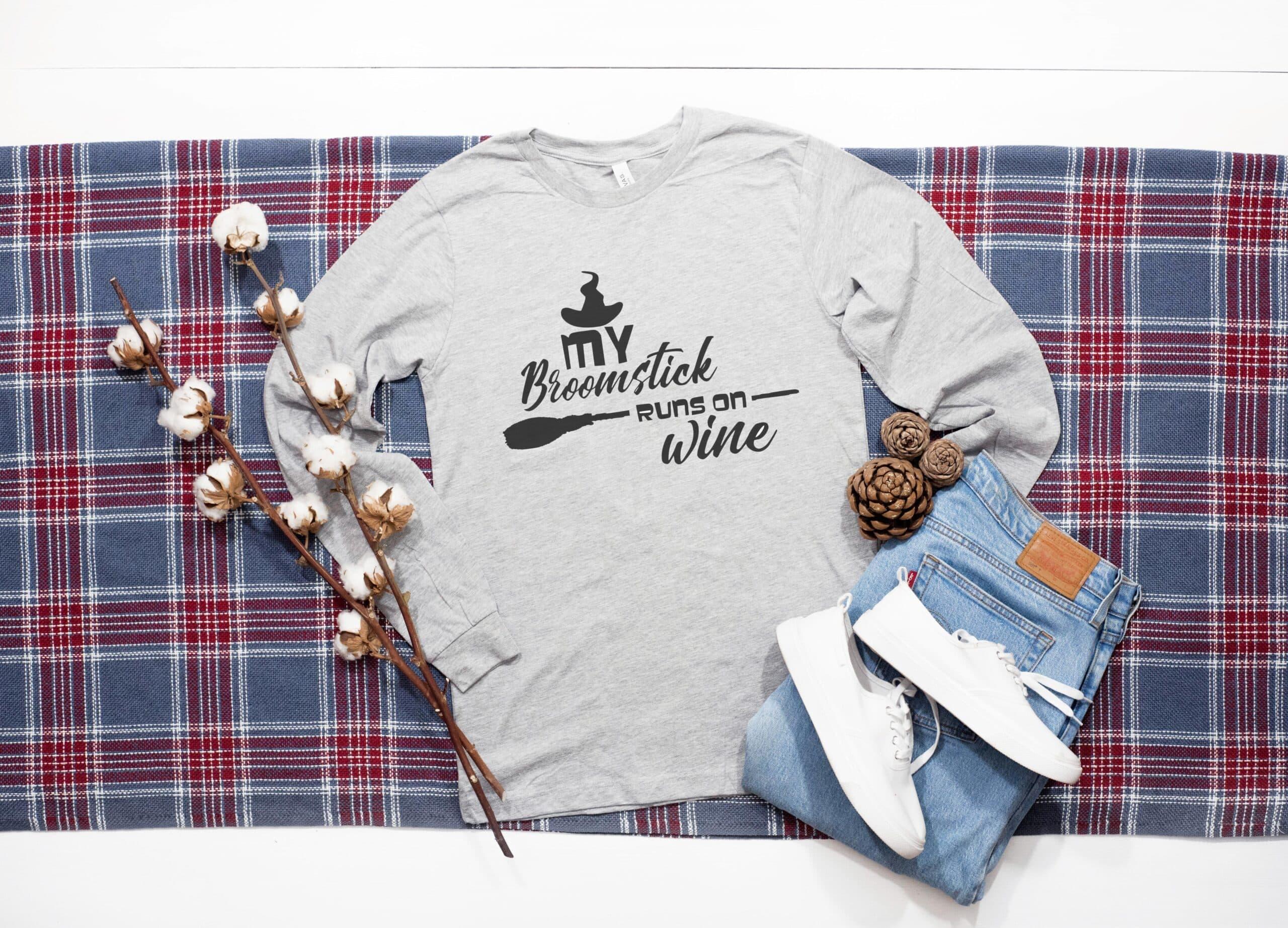 Free My Broomstick Runs on Wine SVG File