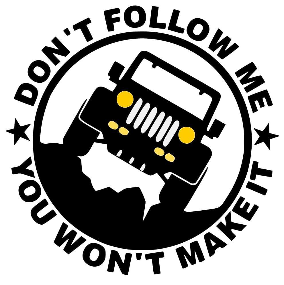 Free Don't Follow Me SVG File