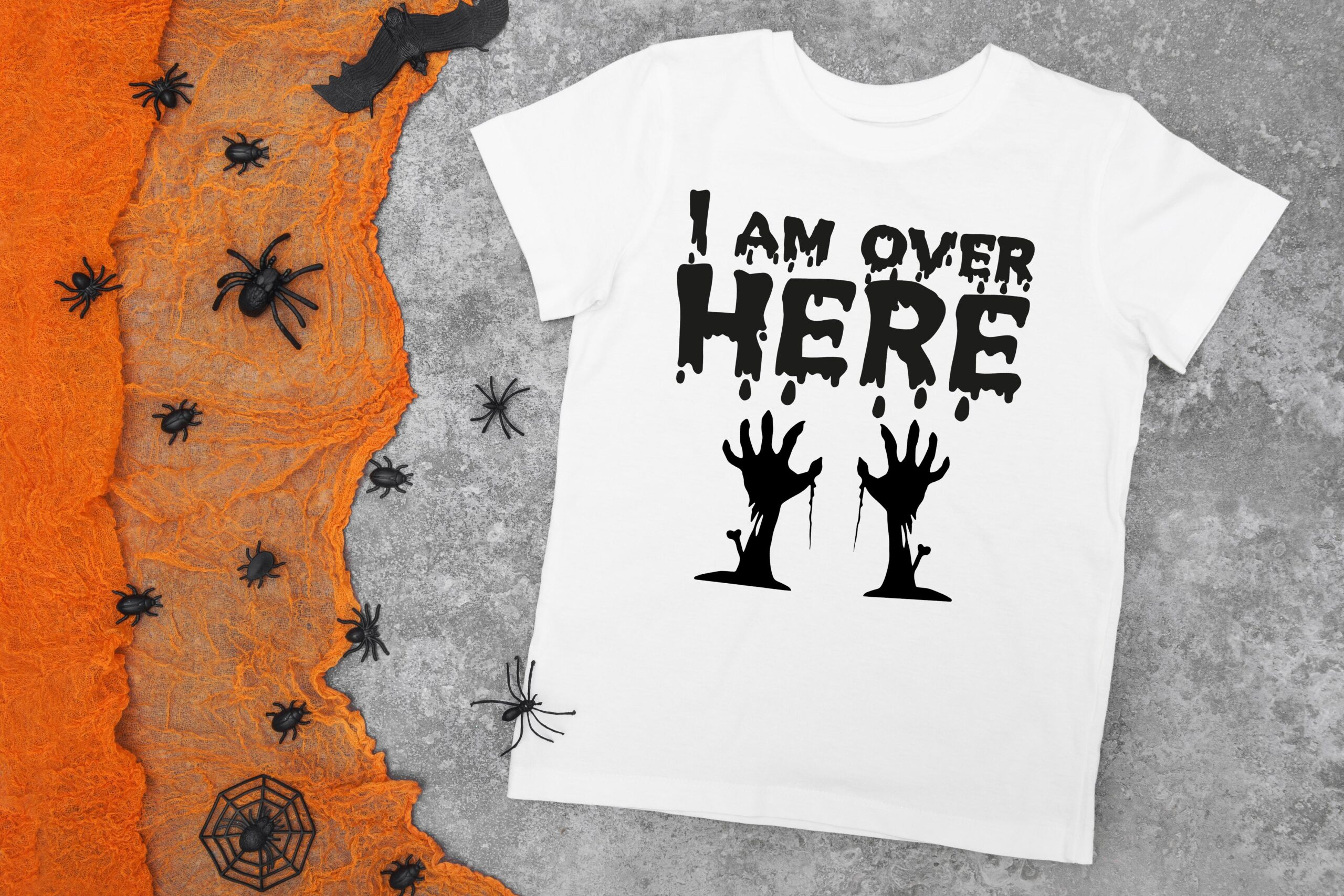 Free Halloween I Am Over Here SVG Cutting File for the Cricut.