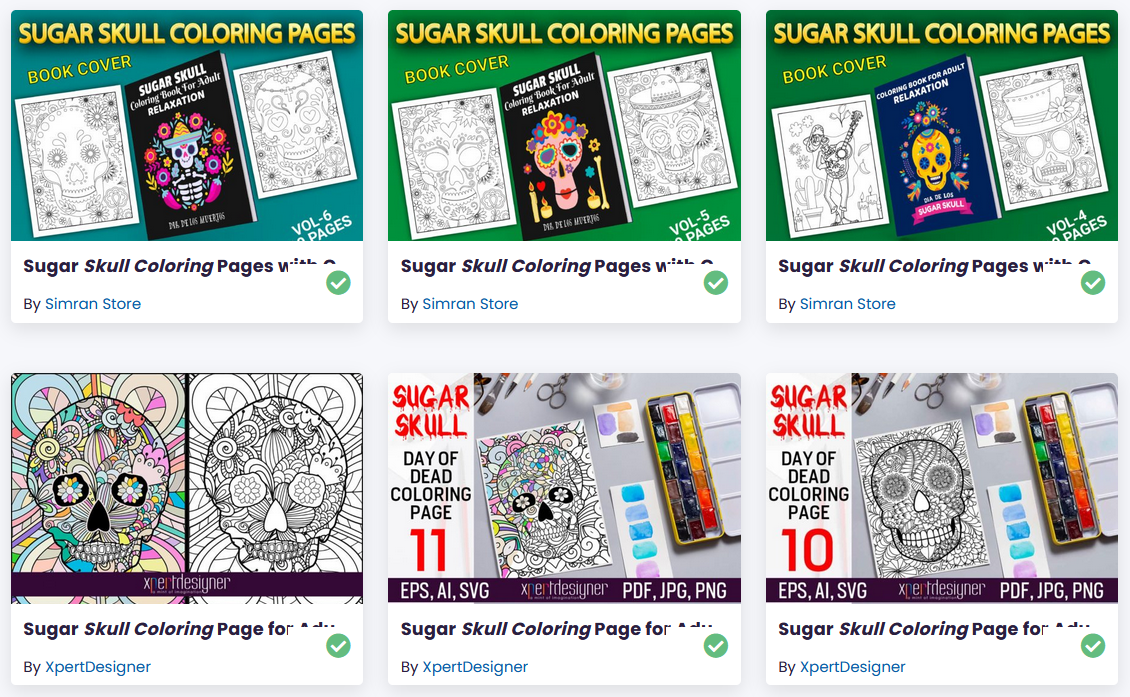 Skull Coloring Book for Adults