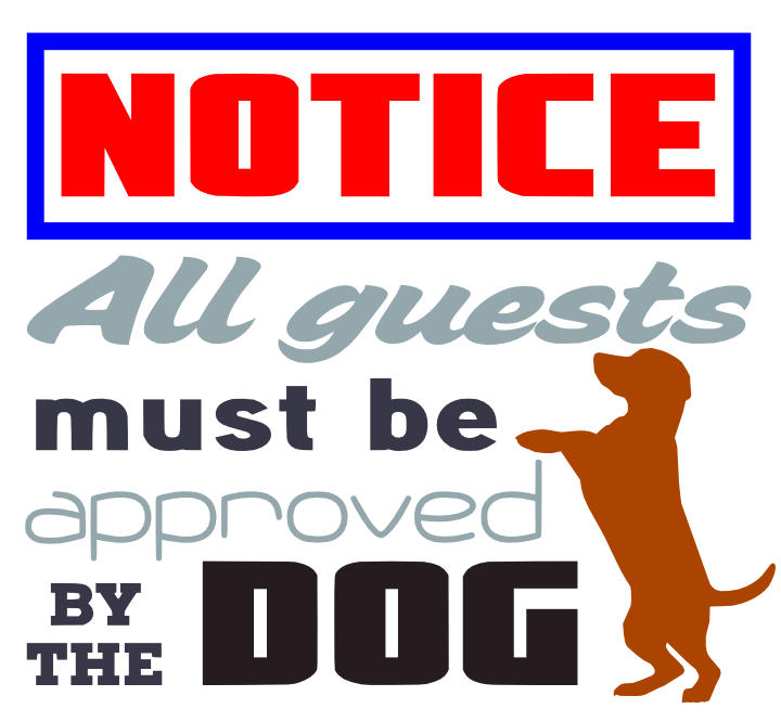Free Dog Notice SVG Cutting File