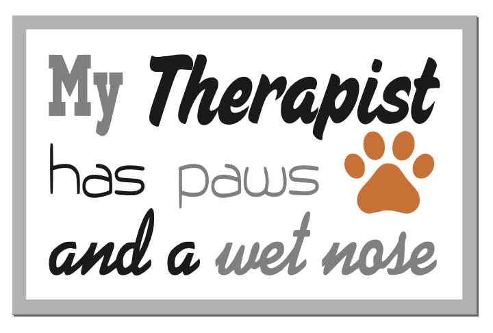 Free Dog Therapy SVG Cutting File