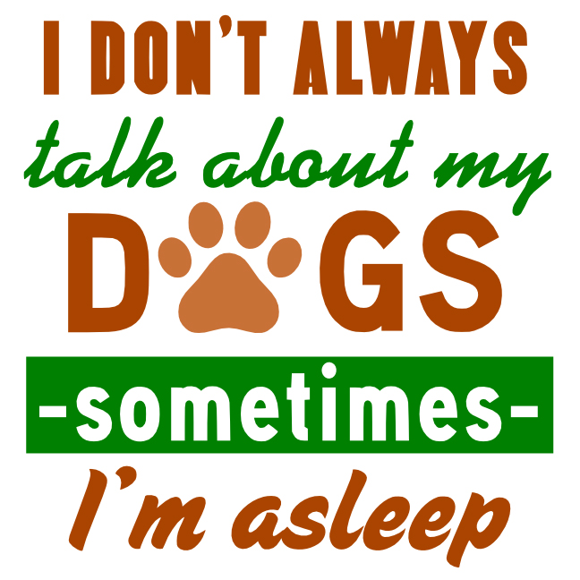 Free Talk about Dogs SVG Cutting File